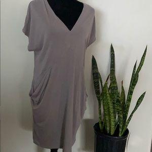 Rachel Roy charcoal drapes pocket dress Size S, M